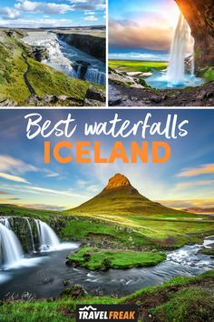 Discover the best waterfalls in Iceland and the most beautiful waterfalls Iceland with this guide to Iceland waterfalls you must visit. Including Iceland waterfalls Skogafoss, Gullfoss and Seljalandsfoss. They really are some of the most beautiful places in Iceland to visit on your Iceland trip. | iceland sights | blue waterfall iceland | iceland most beautiful places | iceland travel winter beautiful places | best places to go in iceland | best places to visit in iceland Guide To Iceland, Iceland Travel Tips, Europe Travel Tips, Travel Guides, Cool Places To Visit, Places To Go, Thingvellir National Park, Iceland Waterfalls, Top Travel Destinations