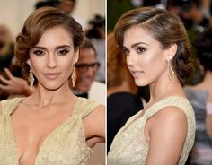Jessica Alba's Stunning Updo At Met Ball -- Perfect For Prom