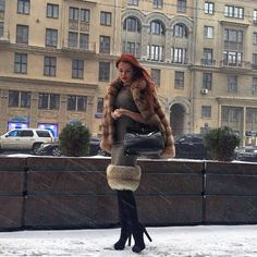 Fur Boots, Leather Boots, Fur Fashion, Womens Fashion, Sexy Boots, Mink Fur, Daily Look, Red Hair, Winter Jackets