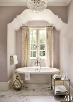 mauve bathroom light purple violet girly feminine ceiling design traditional bathtub marble tiles ideas inspiration small shop room ideas yellow curtains window victorian tub fittings