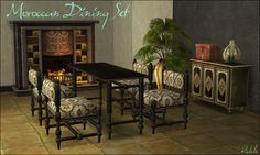 Mod The Sims - Moroccan Dining/Living Set