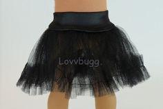 "Black Tutu Crinoline Slip Tulle Tutu Skirt Clothes for 18"" American Girl Doll | Dolls & Bears, Dolls, Clothes & Accessories | eBay!"