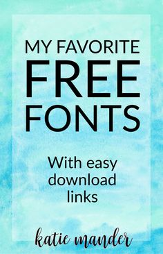Great free fonts with download links