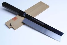 "YOSHIHIRO- Honyaki Mirror-Finished Ebony Usuba Sashimi Chef Knife 8.25"" 210mm- MADE IN JAPAN by YOSHIHIRO. Save 22 Off!. $799.99. BOLSTER: Water Buffalo Horn / Handle Material: Ebony. Hardness Rockwell C scale: 64. Blade: Single-Edged/ Blade Length: 8.25"" (210mm). Steel Type: Shiro-ko High-Carbon Steel. Grade:Mirror-Finished (Kyoumen Shiage) / Knife Type: Usuba Edo Knife. Honyaki knives are true-forged knives, made with a single piece of high- carbon steel. The same method i..."