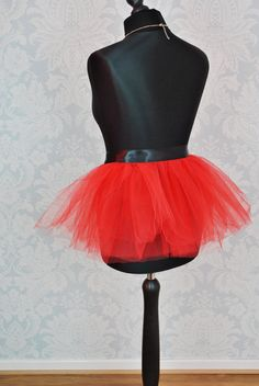 Bustle Belt,Half Tutu,Bustle Tutu,Black Tutu,Red Tutu,Burlesque Skirt,Black Burlesque Tulle Skirt,Hen Party Skirt,Adult Bustle Skirt,Tulle