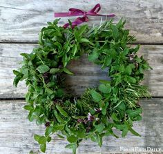 Fly Repelling Fresh Herb Wreath for your Chicken Coop | Fresh Eggs Daily®