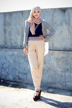 soft checkered ♥ hijab