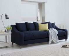 The Oscar sofa, being extra deep, is perfect for laid-back loafing. Available in a range of sizes & colours, it's ideal for horizontal living. Blue Sofa Design, Living Room Sets, Living Room Decor, Sofa Layout, Comfy Sofa, Luxury Sofa, Large Sofa, Living Room Inspiration, Sofa Inspiration