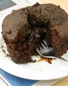 Healthy Single Serving Lava Cake (Vegan/Gluten Free/Low Calorie)