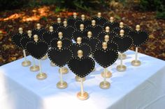 Chalkboard Table Toppers, for your Rustic Wedding, Fall Wedding, Christmas Wedding, Rustic Decor from Naturally Aspen on Etsy