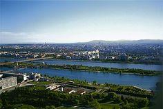 Blick über die Donauinsel