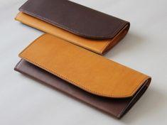 <受注制作>イタリアンレザーのバイカラー長財布