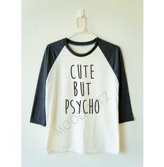 Cute Psycho Shirt Baseball Shirt Long Sleeve Tee Women Shirt Men Shirt