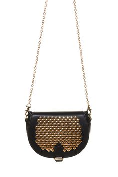 Harry and Zoe - Studded Saddle Handbag, $57.00 (http://www.harryandzoe.com/studded-saddle-handbag/)