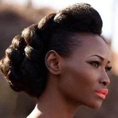 natural hair with great coiffure. Beauty is at every age, and we can embrace God's gifts. A wife's long hair is just naturally beautiful, a glory to her and a joy to her husband. Pelo Natural, Natural Hair Care, Natural Hair Styles, Natural Updo, Twisted Hair, Natural Hair Inspiration, Afro Hairstyles, Updo Hairstyle, Party Hairstyles