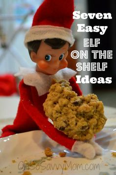 Enough with the super elaborate, messy Elf on the Shelf ideas. How about some great ideas for the parents who don't care about the Elf as much their kids do? Check out these Easy Elf on the Shelf Ideas! Simple Christmas, All Things Christmas, Christmas Holidays, Christmas Crafts, Christmas Ideas, Holiday Ideas, Christmas Ornaments, Santa Crafts, Reindeer Craft