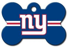Personalized Laser Engraved 1.5 x 1 inch New York Giants Bone Shape Pet ID Tag - Free Tag Silencer ** Tried it! Love it! Click the image. (This is an amazon affiliate link. I may earn commission from it)