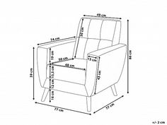 Világosszürke kárpitozott fotel - HERNING_674415