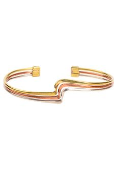 #fairtrade #jewelry Trades of Hope - Thin strips of silver, gold, and copper-colored metals wrap the wrist and turn in unison on this less than 0.75-inch-tall bracelet.