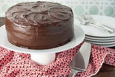 With its fluffy filling and rich ganache coating, this heavenly double chocolate cake is sure to have your guests going for seconds.