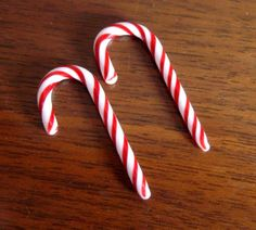 Candy Cane 6g gauges ear plugs earrings for by InfiniteCosmosGirl, $31.00