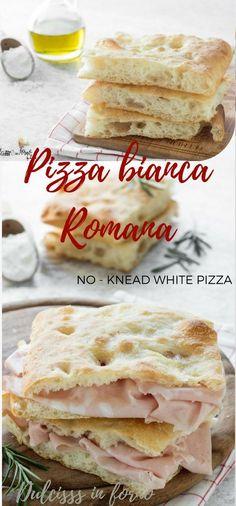 Pizza Bianca Recipe, Pizza Blanca, Focaccia Pizza, Sauce Pizza, Vegetarian Pizza, Salty Cake, Pizza Dough, Pizza Pizza, Pizza Recipes