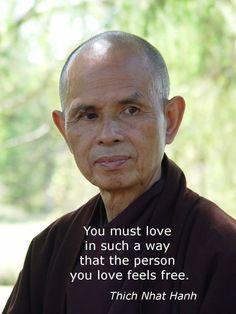 Você precisa amar de uma forma que a pessoa que você ama se sinta livre.  #nowmaste #now #namaste