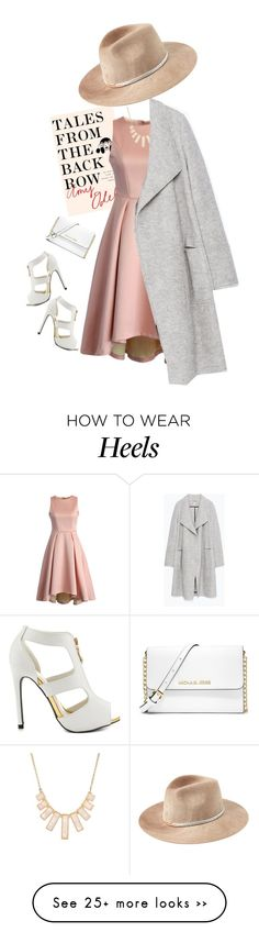 """""""Polished street style !"""" by azzra on Polyvore featuring Chicwish, Rivka Friedman, Zara, Qupid, MICHAEL Michael Kors, Eugenia Kim, StreetStyle and talesfromthebackrow"""