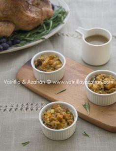 Relleno para el pavo con pan, auyama y romero ¡Facilísimo y sabroso!!!/ Bread, pumpkin and rosemary turkey stuffed, Sooo easy and delicious!!!!