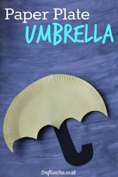 Simple paper plate umbrella craft - you could really go to town decking out it out with gems, paint and glitter!