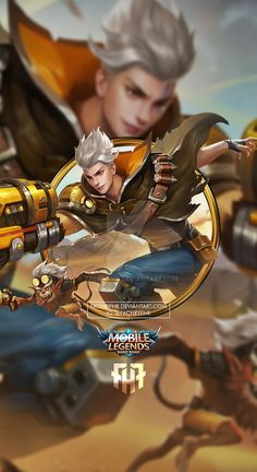 Wallpaper Phone Claude Golden Bullet by FachriFHR on DeviantArt Bruno Mobile Legends, Miya Mobile Legends, Mobile Legend Wallpaper, Hero Wallpaper, Mobiles, Alucard Mobile Legends, Moba Legends, Golden Warriors, Android Mobile Games