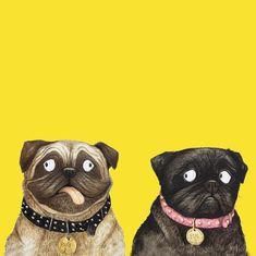 Getting pugs print ready ☀️ . . . . . #illo #illustration #wallart #print #homedecor #kidsroom pug #puglover #pugsofinsta #dog #dogsofinstagram #doglover #print #ukdesign…
