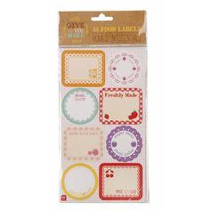 Stickers Homemade Mariage | Anniversaire | Baptême | Baby-Shower - http://www.instemporel.com/s/29222_175132_lot-de-48-stickers-home-made