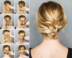 Lockere Hochsteckfrisuren für mittellange Haare