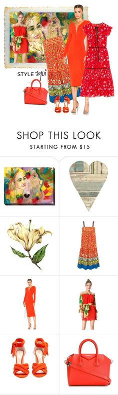 """""""Geen titel #33207"""" by lizmuller ❤ liked on Polyvore featuring Home Decorators Collection, T By Alexander Wang, Isolda, Nicholas Kirkwood, Givenchy and Markus Lupfer"""