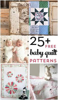 Stricken More than 25 free baby quilt patterns. Learn how to make a baby quilt with one o… – Stricken Free Baby Quilt Patterns, Sewing Patterns Free, Free Sewing, Blanket Patterns, Block Patterns, Quilting Patterns, Baby Sewing, Free Pattern, Easy Sewing Projects