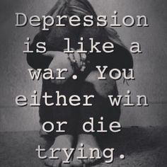Someone once told me depression is the most self-centered thing there is. I wanted to slap them, but sadly, I decided to let God teach them better. Unless you have this tendency, you will never understand, so do not make statements like that! Lol!