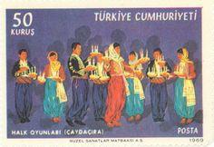 1969 Turkey -   Caydacira folk dance, a candle dance