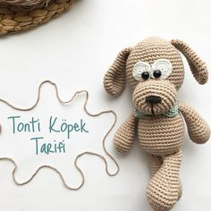 Crochet Dolls Free Patterns, Amigurumi Patterns, Baby Patterns, Crochet Baby, Free Crochet, Plastic Bag Crochet, Punch Needle Patterns, Dog Pattern, Sewing Toys