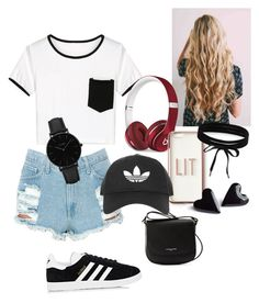 """Untitled #111"" by daeaneiram on Polyvore featuring WithChic, adidas, Beats by Dr. Dre, Missguided, Topshop, Lancaster, Boohoo and CLUSE"
