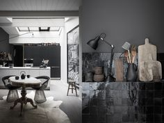Love all of this. Black walls, black tiles, all black errthang.