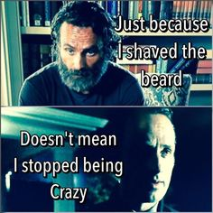 The Walking Dead funny meme   this is sooo true but i wish he kept the beard on tho