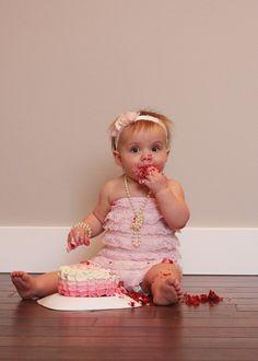 1st Birthday Cake Smash! Love my little girl!