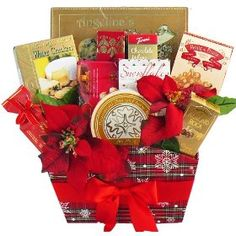Season`s Greetings Christmas Holiday Gourmet Food Gift Basket