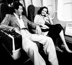 Qantas Boeing 747-238B VH-EBA. - First Class seating, circa 1977