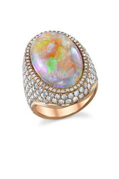 Irene Neuwirth one of a kind opal and diamond pave ring, $40,600