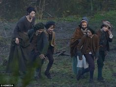 Photos of Filming of Outlander with Hamish