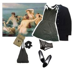 """""""The Sea was cold"""" by linneminne ❤ liked on Polyvore featuring Ganni, Yohji Yamamoto, American Apparel, Topshop, Laneus, Aquarelle, women's clothing, women's fashion, women and female"""