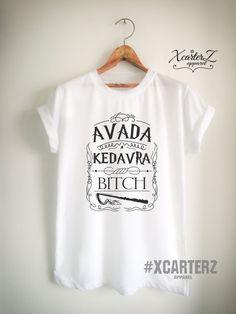 ea2d9821a Avada Kedavra Bitch Shirt Quote Unisex Women Men by XcarterZ Men Tumblr, Harry  Potter Outfits