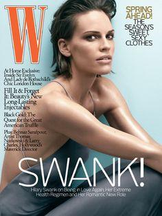 Sexy. Short hair. (Hilary Swank. W Magazine, January 2008.)